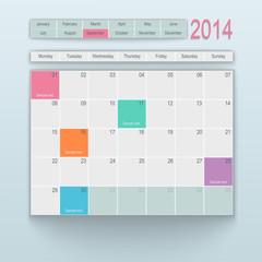 Calendar design. September