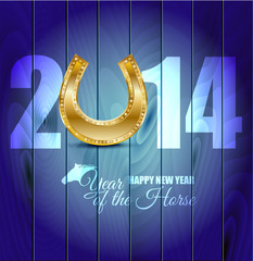 2014. Year of the wooden blue horse.