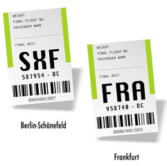 Airport tag bags - Germany
