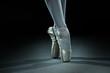 canvas print picture - Ballet dancer shoes - gold