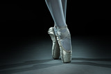 Fototapety Ballet dancer shoes - gold