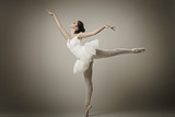 Fototapety Portrait of the ballerina in ballet pose