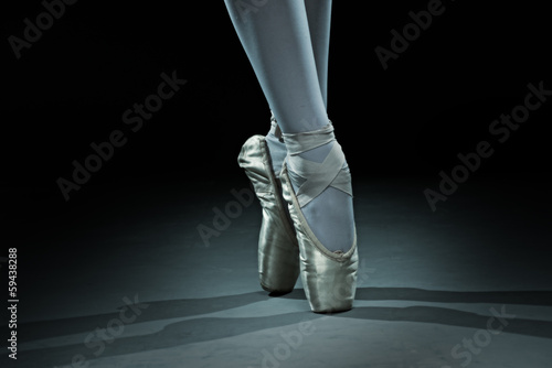 Fotobehang Dans Ballet dancer shoes - gold