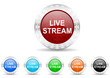 live stream icon christmas vector set