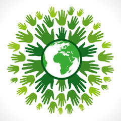 save earth concept vector