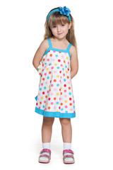 Pretty little girl in polka dot dress