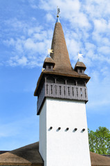 Spire or bell tower on a church