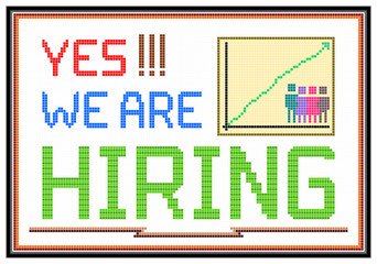 Hiring Retro LCD Message