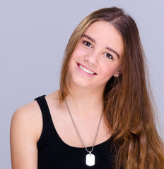 Smiling teenager portrait
