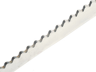 knife with a wavy blade on a white background