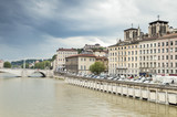 River and Buildings in Lyon, France