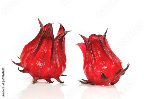Hibiscus sabdariffa or roselle fruits