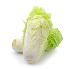 Lettuce heart on a white background