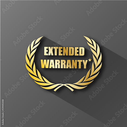EXTENDED WARRANTY icon (wreath laurel guarantee satisfaction)