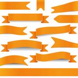 set of orange ribbons