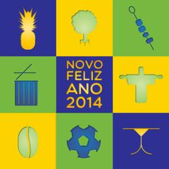carte de vœux brésil