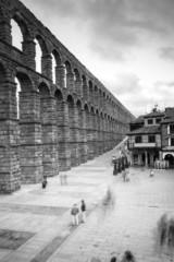 Segovia Aqueduct in Black and White