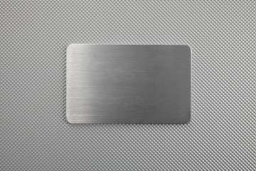 metal texture abstract background with a plate