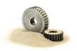 Leinwanddruck Bild - Sand im Getriebe