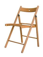 Wooden folding chair