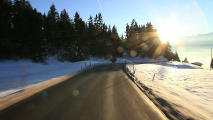 Switzerland driving shot