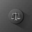 """SCALES OF JUSTICE"" Button (rights legal advice law icon silver)"