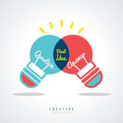 Best Idea Creative light bulb Concept Illustration