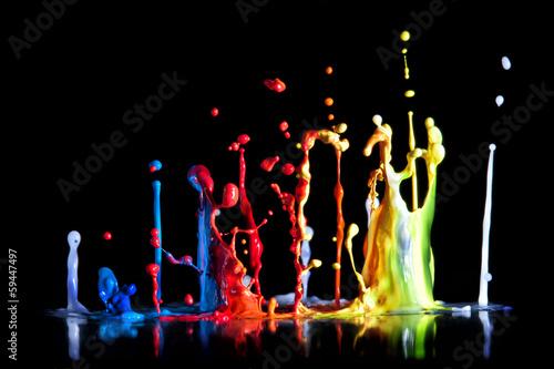 Fotobehang Vormen paint explosion