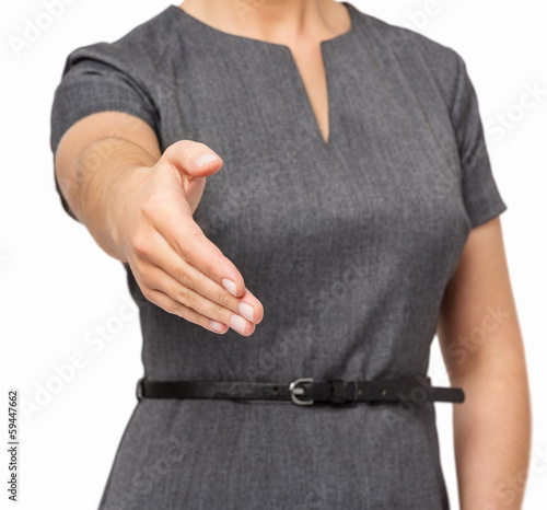 Businesswoman Offering Handshake
