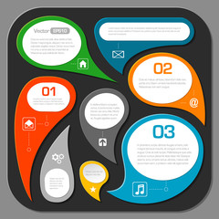 modern speech bubble layout design - infographics eps