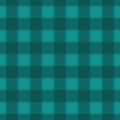 Teal Plaid Striped Lumberjack Textured Fabric Background