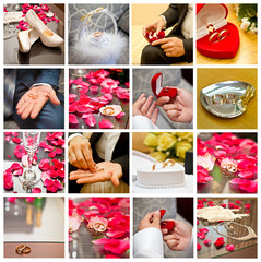 bridal accessories collage