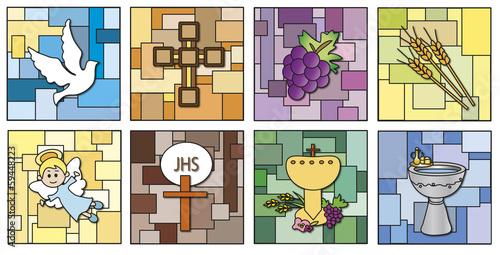 Naklejka religion icons