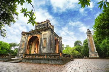 Tomb of Tu Duc emperor, Hue, Vietnam.