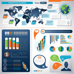 Set of Infographic Elements.  Information Graphics