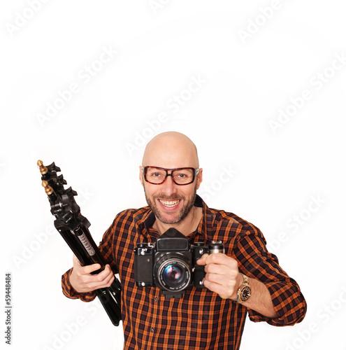 Freudiger Fotograf