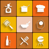 Cooking vector icons