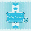 Boy baby shower invitation card.