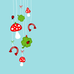 Fly Agarics, Cloverleafs, Horseshoes & Ladybugs retro