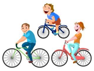 自転車 サイクリング 家族