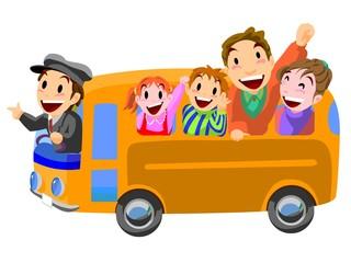 バス旅行 バス見学会 指差し呼称出発進行