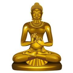 Golden Buddha Siddhartha Gautama - Vector