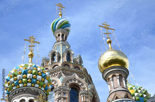 "ST PETERSBURG, RUSSIA: Part of ""Church of the Savior on Blood""."