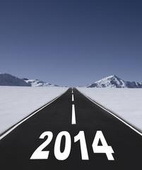 Straße ins Neue Jahr