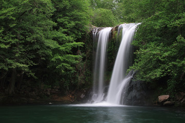 Waterfall known as Santa Margarida