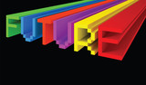 3D title FUTURE consist of bright-color letters