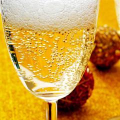 champagne christmas balls