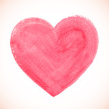 Pink acrylic color textured painted heart