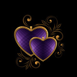 violet faceted heart