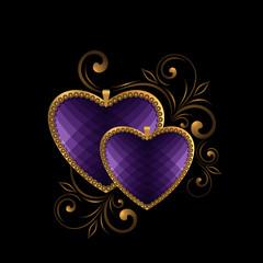 violet faceted heart